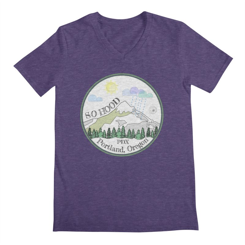 Mt. Hood [white background, works on all colors] Men's V-Neck by Northern Limit