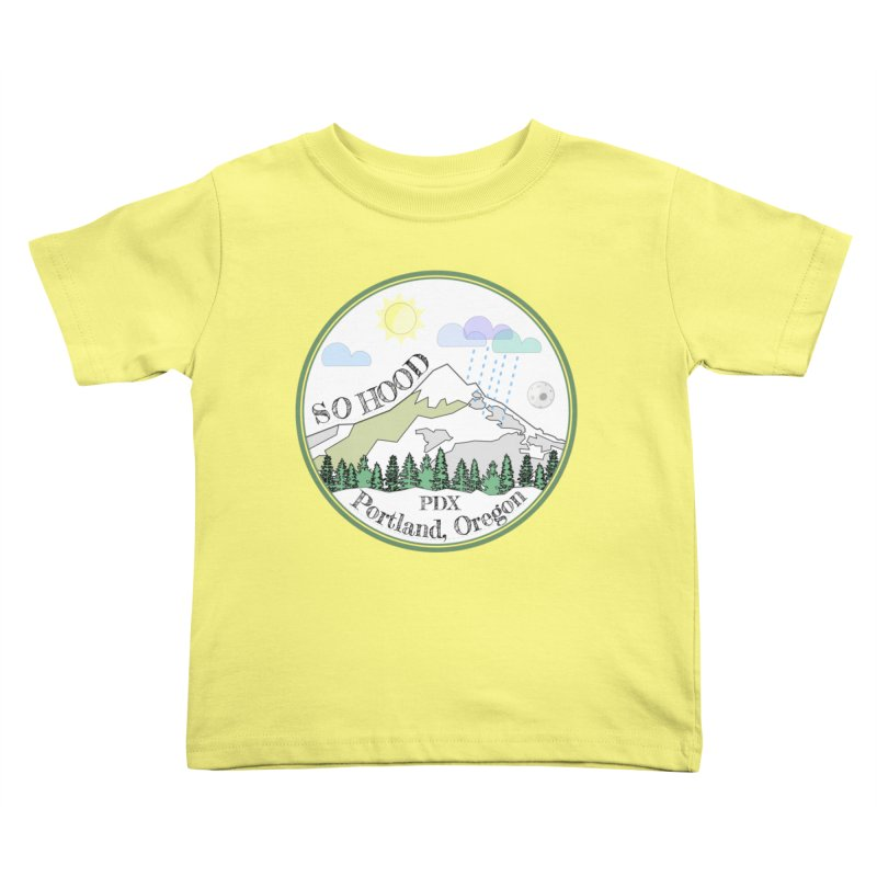 Mt. Hood [white background, works on all colors] Kids Toddler T-Shirt by Northern Limit