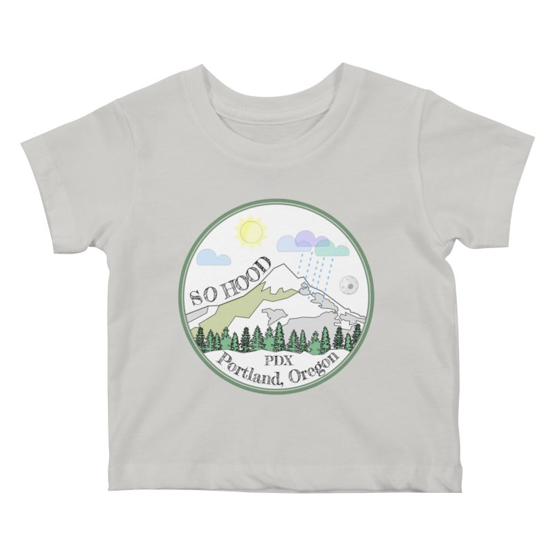 Mt. Hood [white background, works on all colors] Kids Baby T-Shirt by Northern Limit