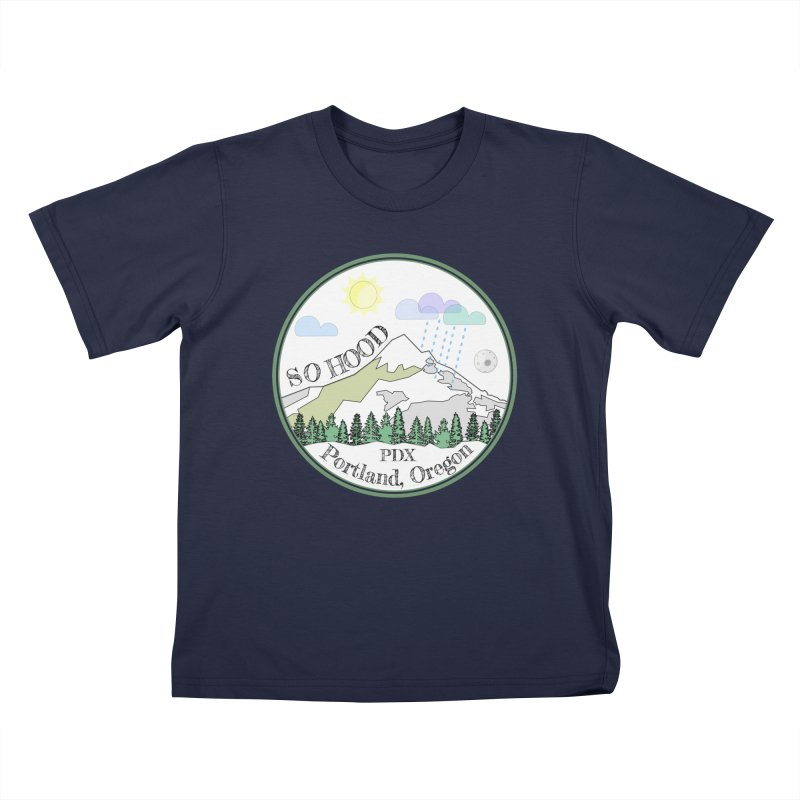 Mt. Hood [white background, works on all colors] Kids T-Shirt by Northern Limit
