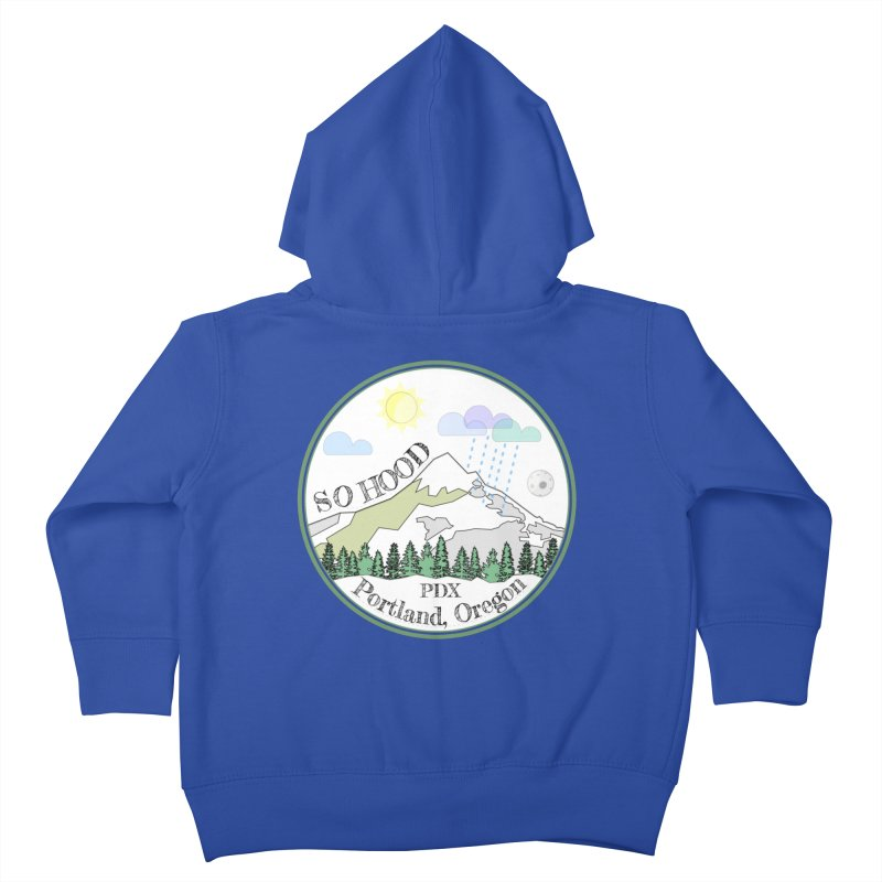 Mt. Hood [white background, works on all colors] Kids Toddler Zip-Up Hoody by Northern Limit