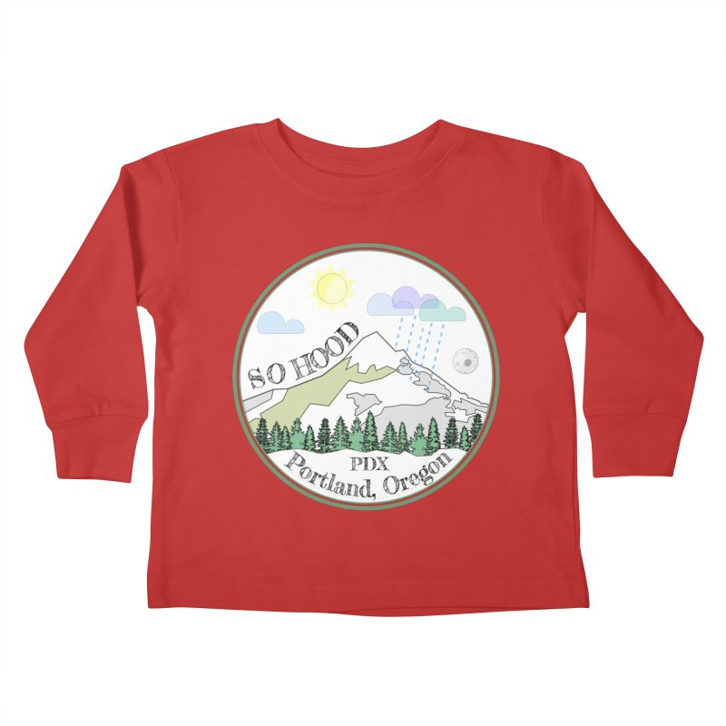 Mt. Hood [white background, works on all colors] Kids Toddler Longsleeve T-Shirt by Northern Limit