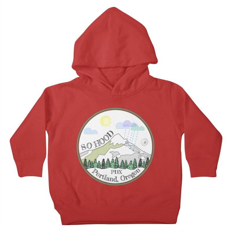 Mt. Hood [white background, works on all colors] Kids Toddler Pullover Hoody by Northern Limit