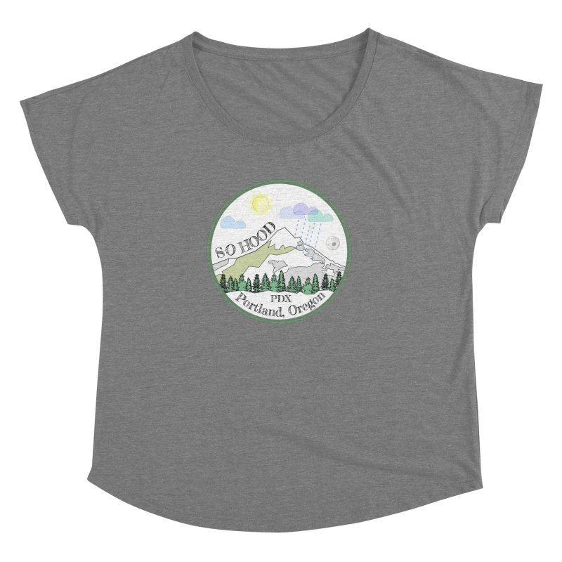Mt. Hood [white background, works on all colors] Women's Dolman by Northern Limit