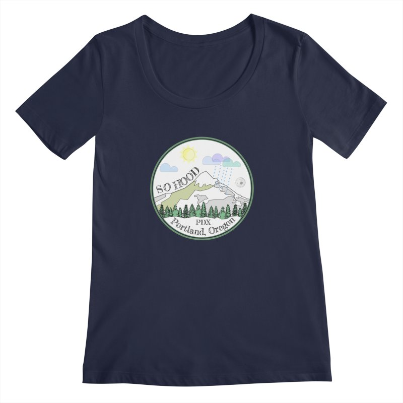 Mt. Hood [white background, works on all colors] Women's Scoopneck by Northern Limit