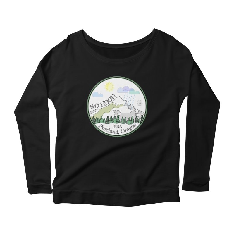 Mt. Hood [white background, works on all colors] Women's Longsleeve Scoopneck  by Northern Limit
