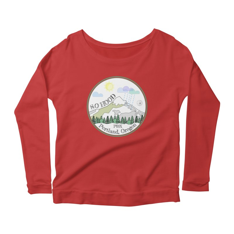 Mt. Hood [white background, works on all colors] Women's Scoop Neck Longsleeve T-Shirt by Northern Limit