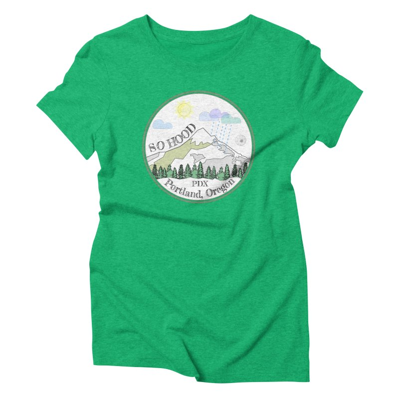 Mt. Hood [white background, works on all colors] Women's Triblend T-Shirt by Northern Limit