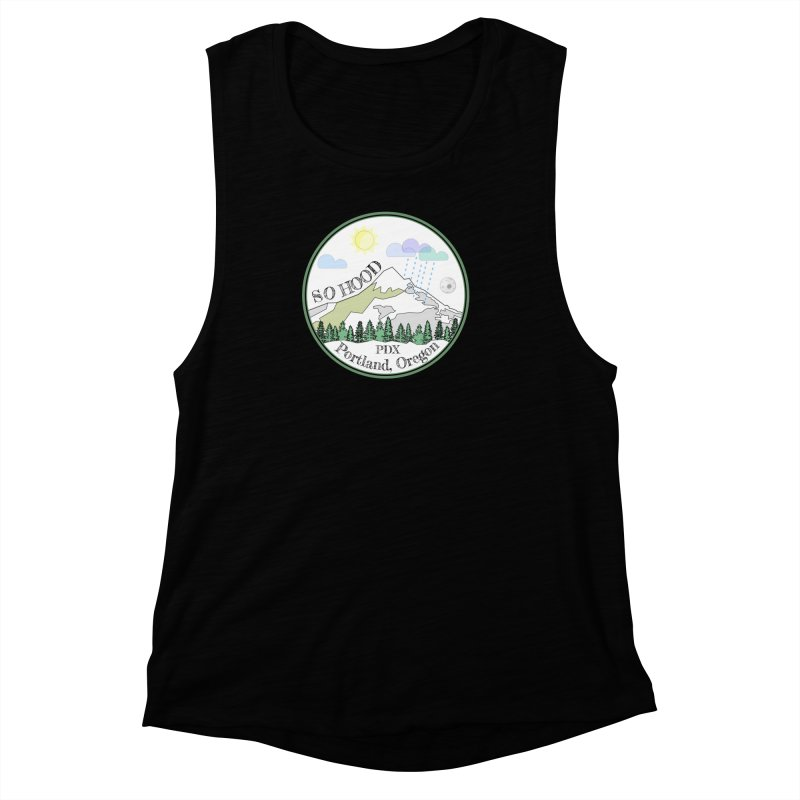 Mt. Hood [white background, works on all colors] Women's Muscle Tank by Northern Limit