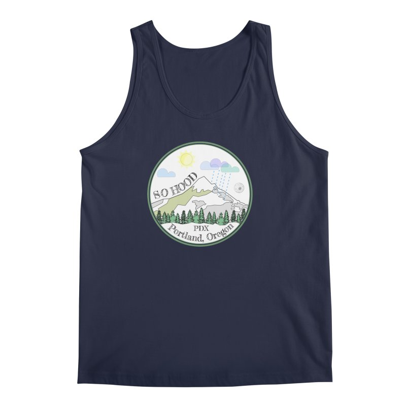 Mt. Hood [white background, works on all colors] Men's Regular Tank by Northern Limit