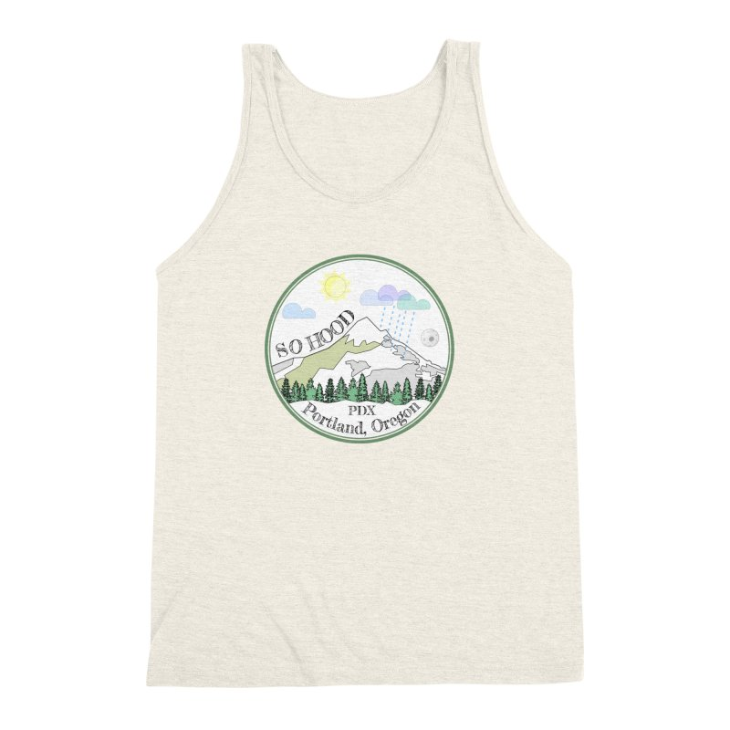 Mt. Hood [white background, works on all colors] Men's Triblend Tank by Northern Limit