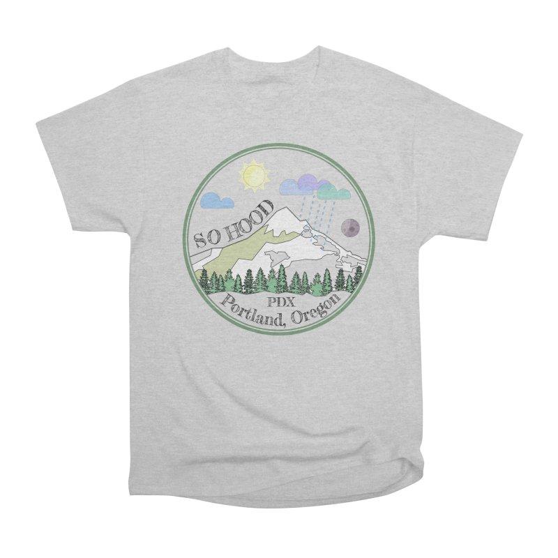 Mt. Hood [transparent background, dark text] Men's Heavyweight T-Shirt by Northern Limit
