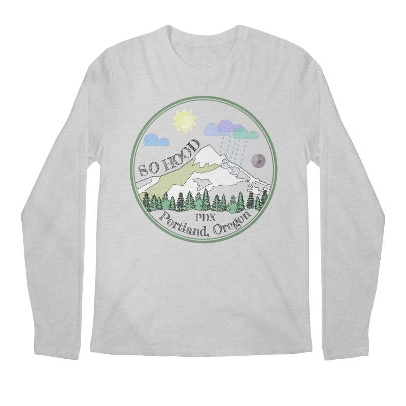 Mt. Hood [transparent background, dark text] Men's Regular Longsleeve T-Shirt by Northern Limit
