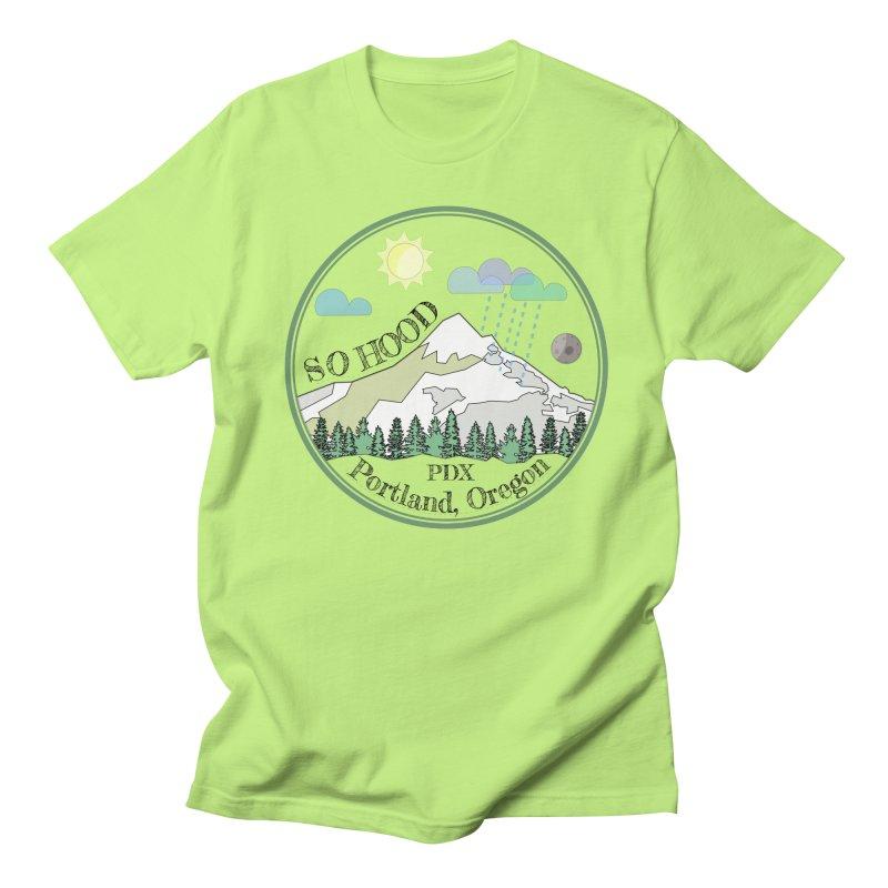 Mt. Hood [transparent background, dark text] Men's Regular T-Shirt by Northern Limit