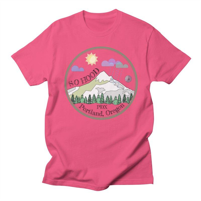 Mt. Hood [transparent background, dark text] Men's T-Shirt by Northern Limit