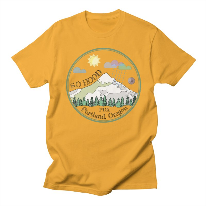 Mt. Hood [transparent background, dark text] Women's Regular Unisex T-Shirt by Northern Limit