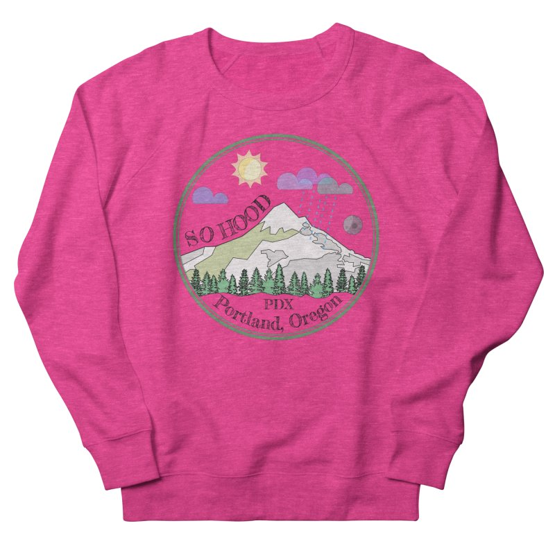 Mt. Hood [transparent background, dark text] Women's Sweatshirt by Northern Limit