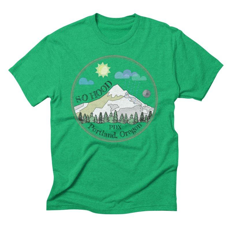 Mt. Hood [transparent background, dark text] Men's Triblend T-Shirt by Northern Limit