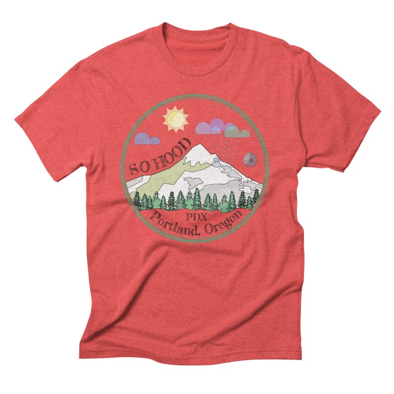 Mt. Hood [transparent background, dark text] Men's Triblend T-Shirt by Northern Limit