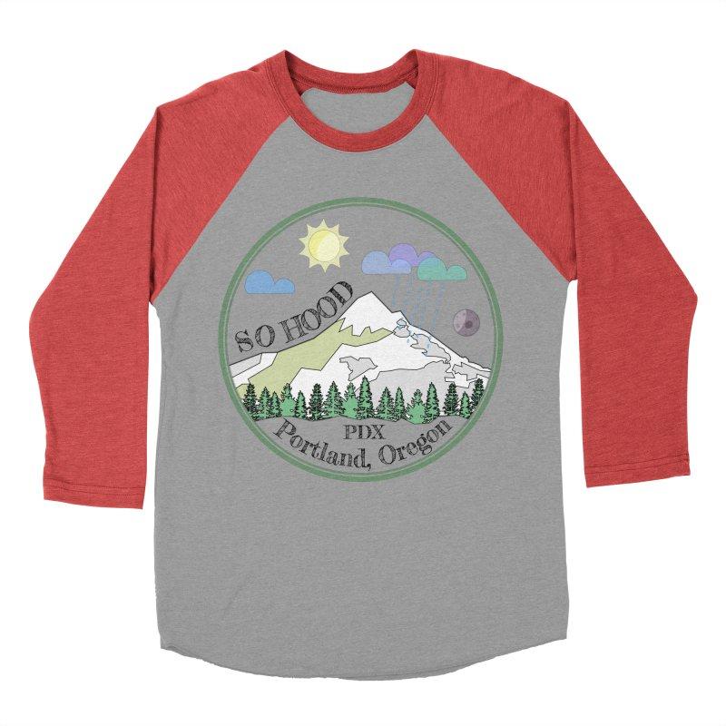 Mt. Hood [transparent background, dark text] Men's Baseball Triblend Longsleeve T-Shirt by Northern Limit