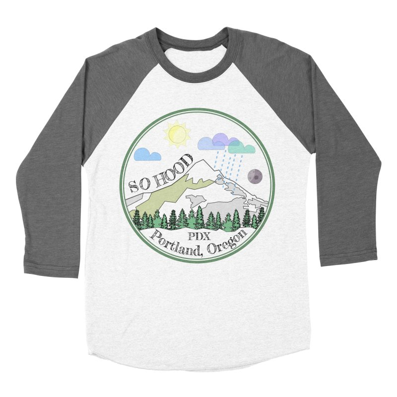 Mt. Hood [transparent background, dark text] Men's Baseball Triblend Longsleeve T-Shirt by Northern Limit