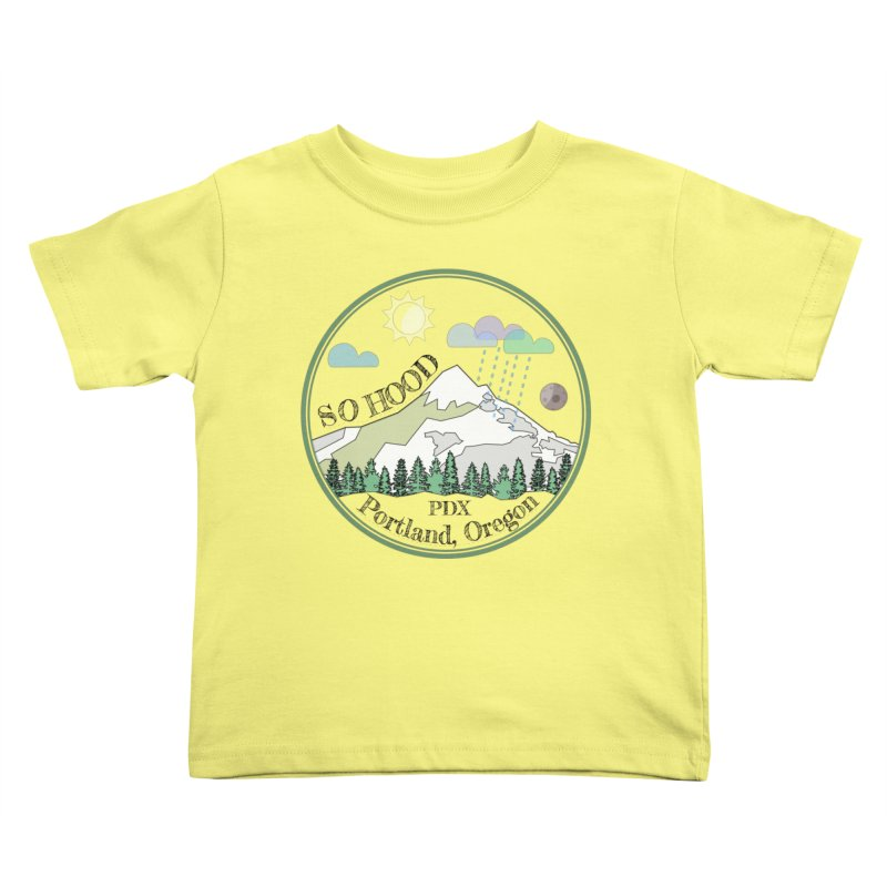 Mt. Hood [transparent background, dark text] Kids Toddler T-Shirt by Northern Limit