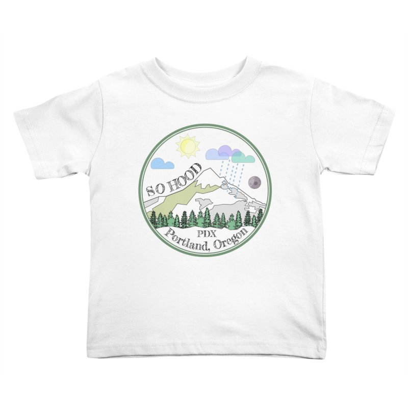 Mt. Hood [transparent background, dark text] Kids Toddler T-Shirt by Northern Limit