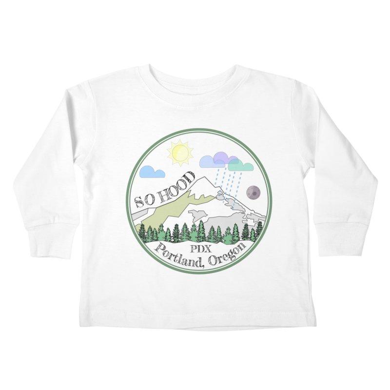 Mt. Hood [transparent background, dark text] Kids Toddler Longsleeve T-Shirt by Northern Limit