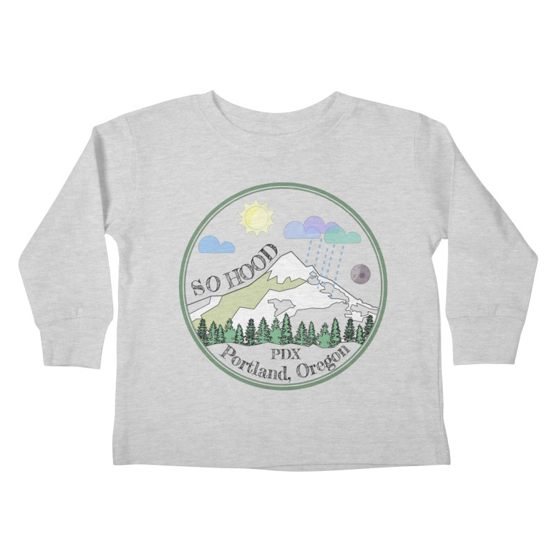 Mt. Hood [transparent background, dark text] Kids Toddler Longsleeve T-Shirt by Northern Limit