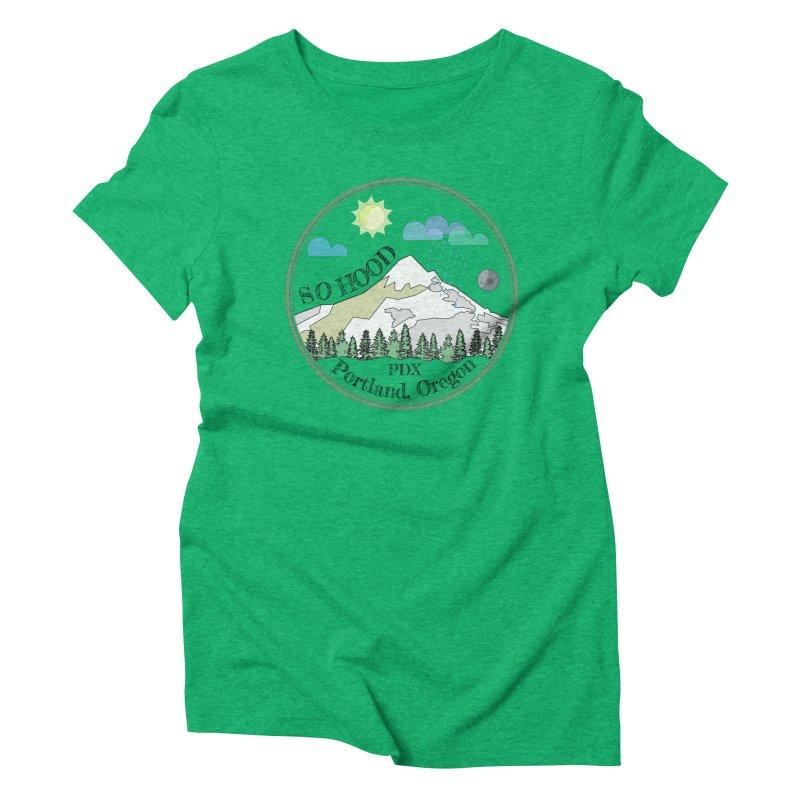 Mt. Hood [transparent background, dark text] Women's Triblend T-Shirt by Northern Limit