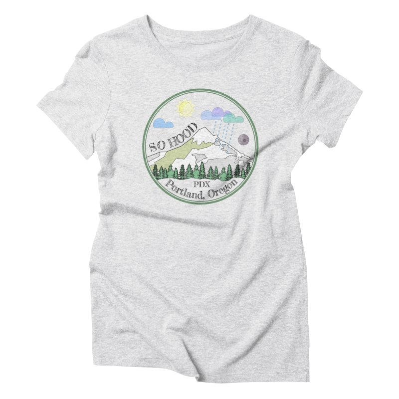 Mt. Hood [transparent background, dark text] Women's Triblend T-Shirt by Northern Limit