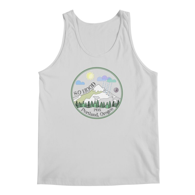 Mt. Hood [transparent background, dark text] Men's Regular Tank by Northern Limit