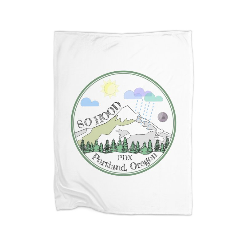 Mt. Hood [transparent background, dark text] Home Blanket by Northern Limit