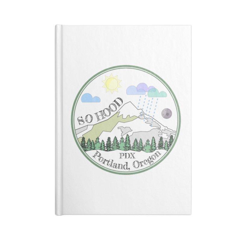 Mt. Hood [transparent background, dark text] Accessories Blank Journal Notebook by Northern Limit