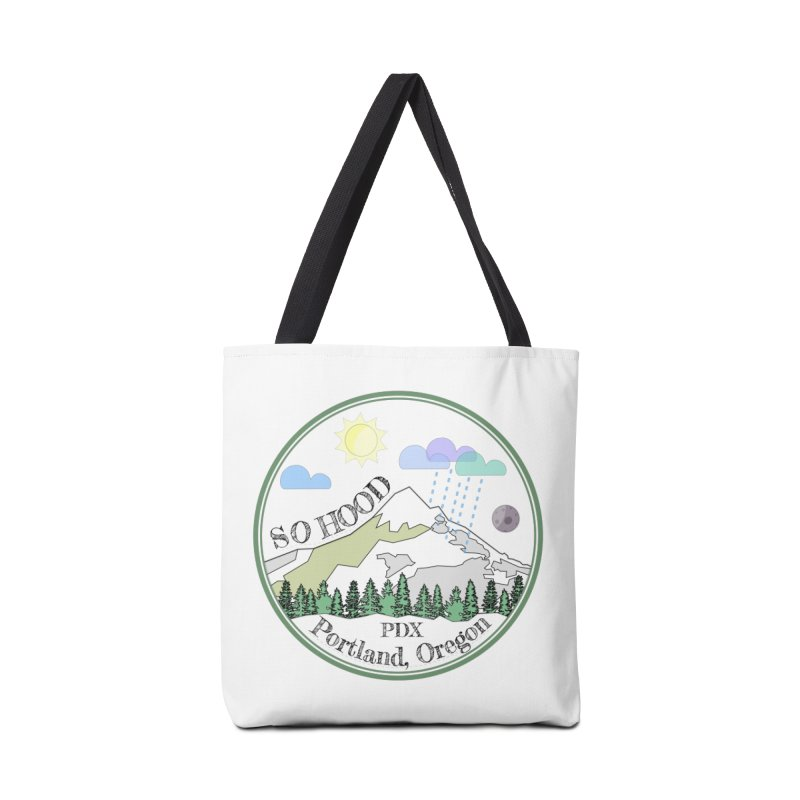 Mt. Hood [transparent background, dark text] Accessories Bag by Northern Limit