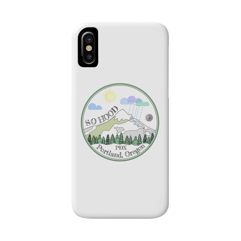 Mt. Hood [transparent background, dark text] Accessories Phone Case by Northern Limit