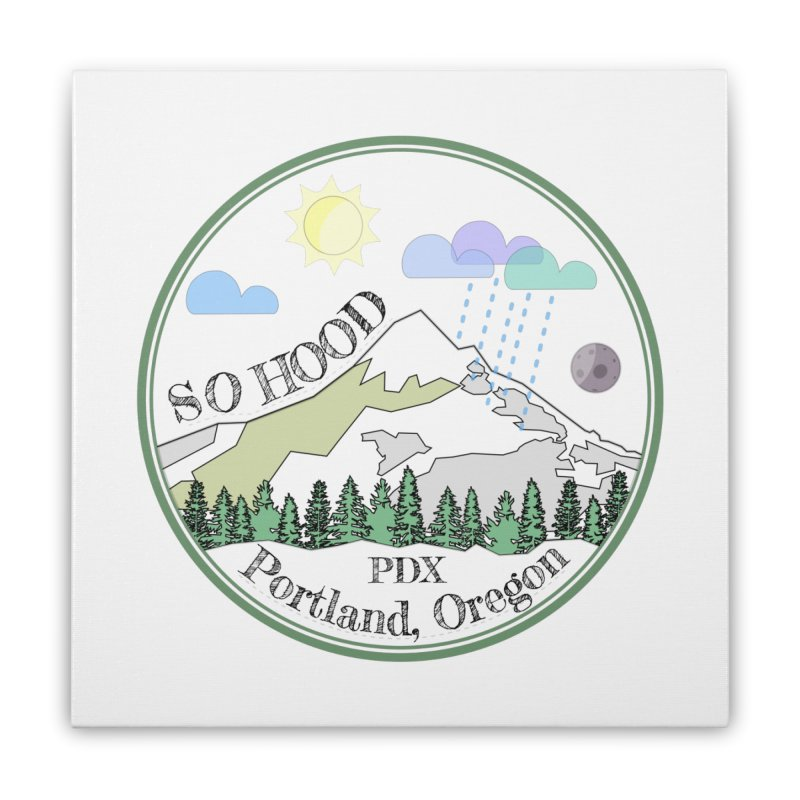 Mt. Hood [transparent background, dark text] Home Stretched Canvas by Northern Limit