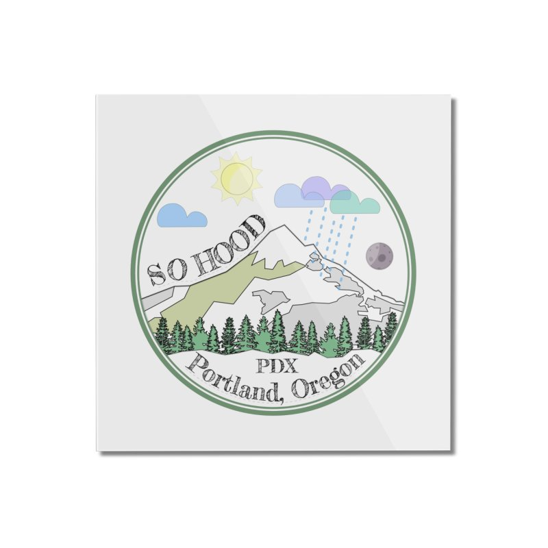 Mt. Hood [transparent background, dark text] Home Mounted Acrylic Print by Northern Limit