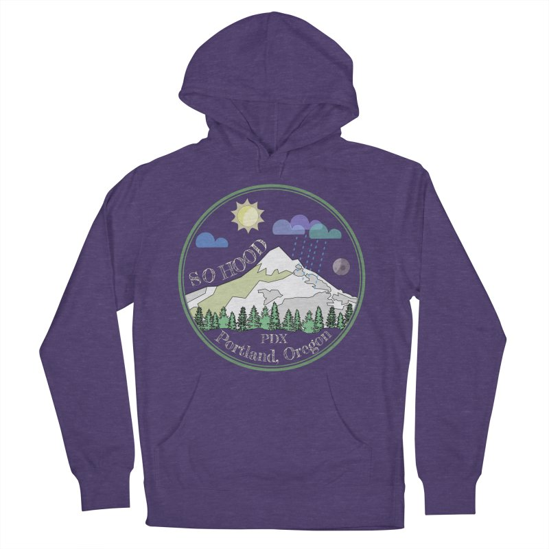 Mt. Hood [Day, transparent background, light text] Women's Pullover Hoody by Northern Limit