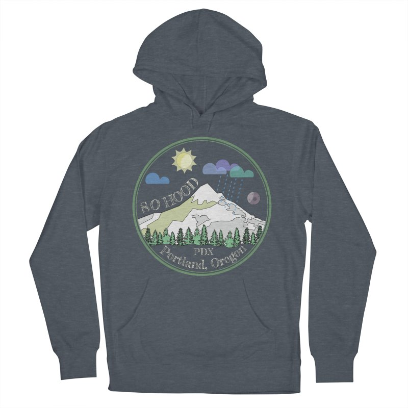 Mt. Hood [Day, transparent background, light text] Women's French Terry Pullover Hoody by Northern Limit