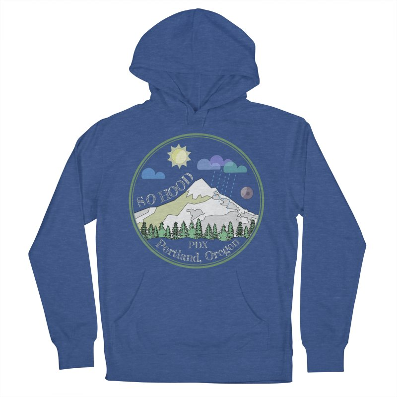 Mt. Hood [Day, transparent background, light text] Men's French Terry Pullover Hoody by Northern Limit