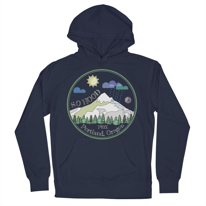 Mt. Hood [Day, transparent background, light text] Men's Pullover Hoody by Northern Limit