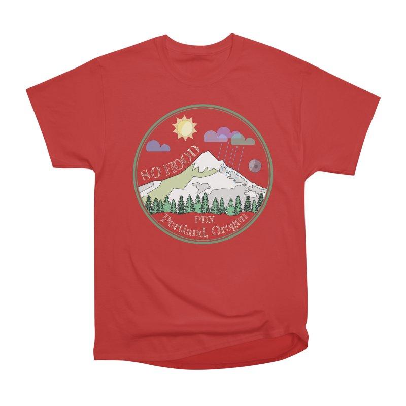 Mt. Hood [Day, transparent background, light text] Men's Heavyweight T-Shirt by Northern Limit