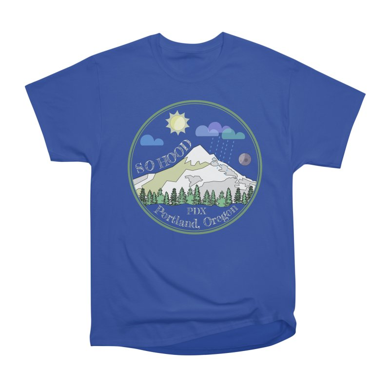 Mt. Hood [Day, transparent background, light text] Men's Classic T-Shirt by Northern Limit