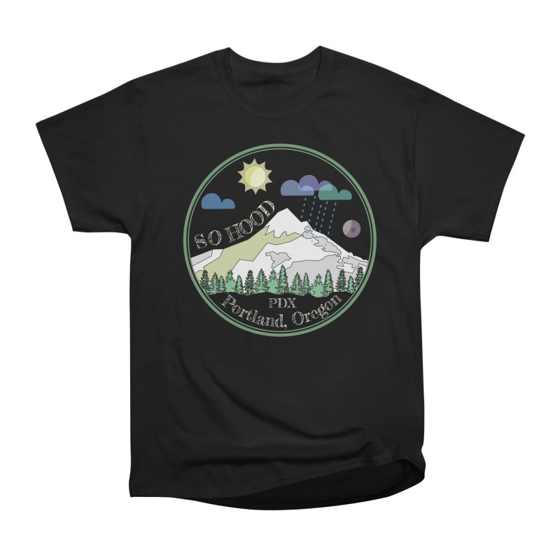 Mt. Hood [Day, transparent background, light text] Women's Classic Unisex T-Shirt by Northern Limit
