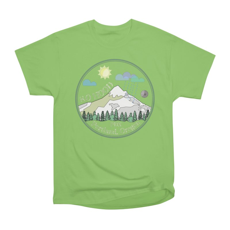 Mt. Hood [Day, transparent background, light text] Women's Heavyweight Unisex T-Shirt by Northern Limit