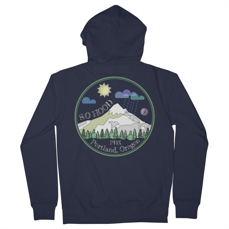Mt. Hood [Day, transparent background, light text] Men's Zip-Up Hoody by Northern Limit