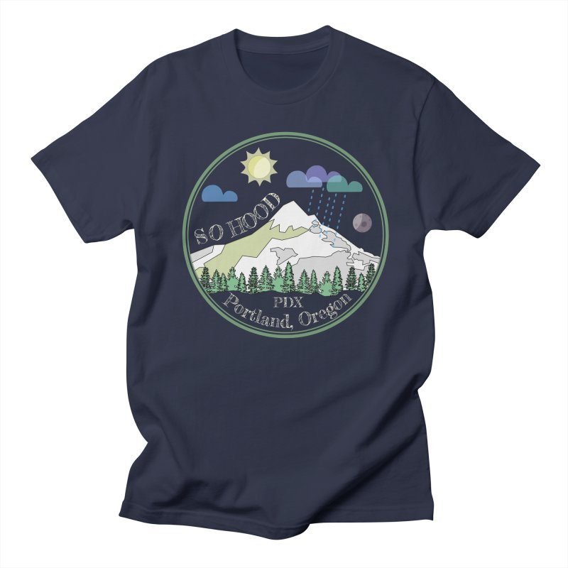 Mt. Hood [Day, transparent background, light text] Men's T-Shirt by Northern Limit