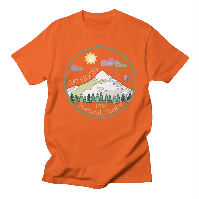 Mt. Hood [Day, transparent background, light text] Men's Regular T-Shirt by Northern Limit