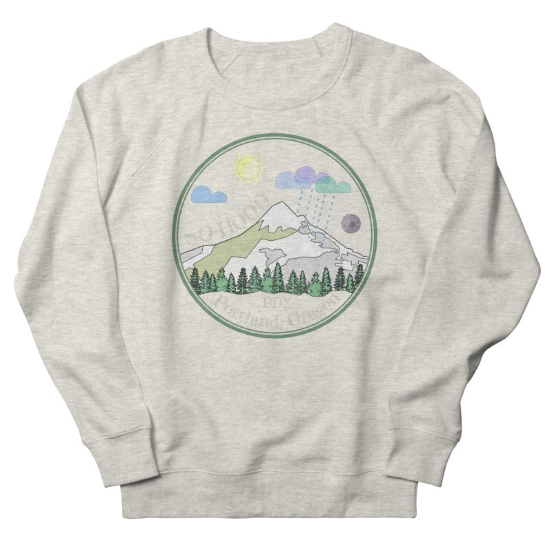 Mt. Hood [Day, transparent background, light text] Women's French Terry Sweatshirt by Northern Limit